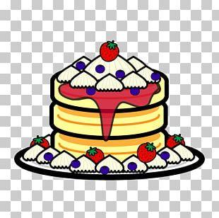 Pancake Shortcake Christmas Cake PNG