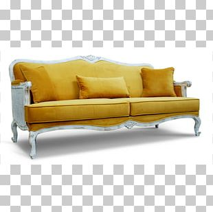 Sofa Bed Couch Yellow Futon Chair PNG