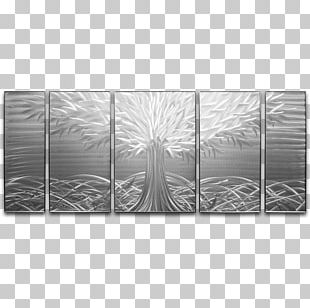 Tree Of Life Metal Silver PNG
