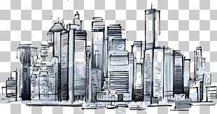 Manhattan Skyline New York Sketch Icon PNG