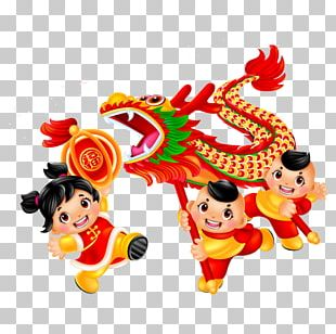 Dragon Dance Lion Dance Lantern Festival Chinese New Year Traditional Chinese Holidays PNG