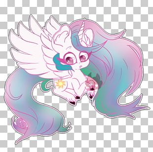 Horse Fairy Illustration Cartoon Pink M PNG