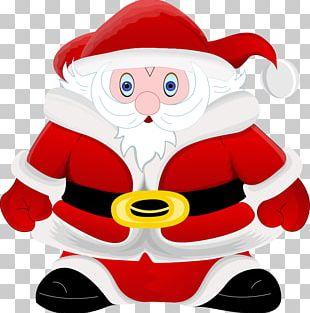 Santa Claus Christmas Cartoon Illustration PNG