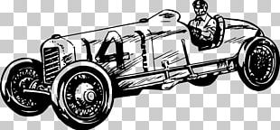Vintage Car Auto Racing Sports Car PNG