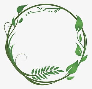 Green Leaves And Branches Combination Ring PNG