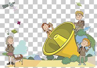 Cartoon Field Trip Drawing Illustration PNG