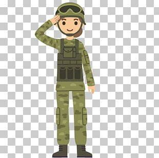Soldier Salute Cartoon Army PNG
