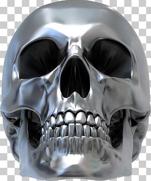 Human Skull Symbolism Silver Sticker Decal PNG