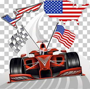 Formula One Auto Racing Race Track Racing Flags PNG