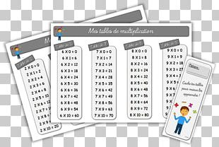 Multiplication Table Mathematics Calculation PNG