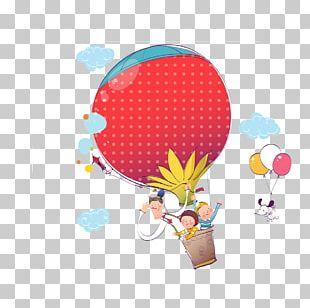 Cartoon Child Balloon Illustration PNG