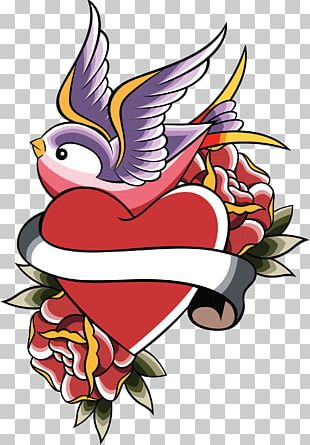Swallow Tattoo Heart PNG