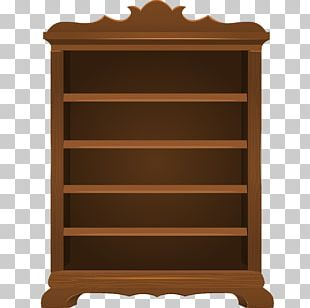 Shelf Bookcase Vecteur PNG