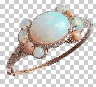 Opal Turquoise Silver Bracelet Jewelry Design PNG