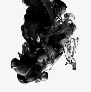 Smoke Ink Flowing Pattern PNG