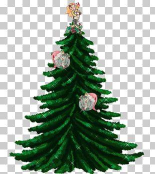 Christmas Tree Fir Garland Guirlande De Noël PNG