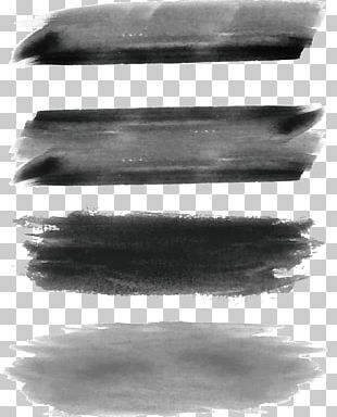 Ink Brush Black And White Paintbrush Watercolor Painting PNG