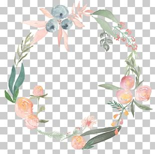 Watercolor Painting Flower Wreath Photography PNG
