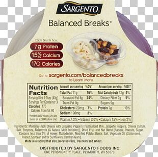 Ingredient Sargento Balanced Breaks Natural Sharp White Cheddar Cheese/Cashews/Golden Raisin Medley Snack PNG