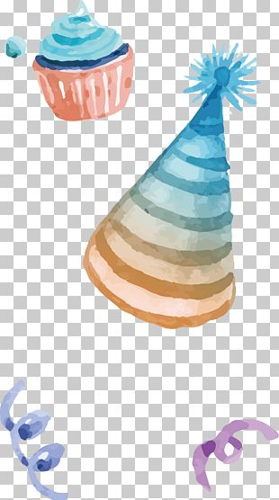 Party Hat Birthday Watercolor Painting PNG