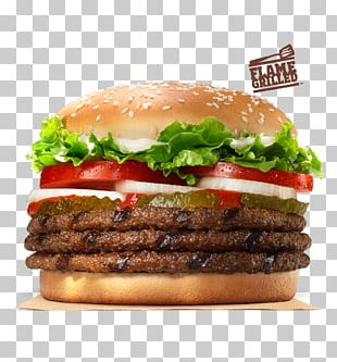 Whopper Hamburger Cheeseburger Fast Food French Fries PNG