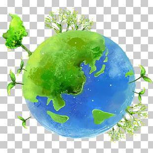 Earth Cartoon Illustration PNG