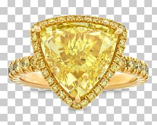 Gemological Institute Of America Diamond Color Yellow Ring PNG