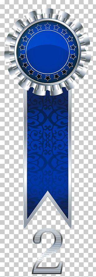 Blue Emblem Ribbon PNG