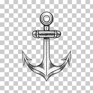 Tattoo Artist Drawing Anchor PNG