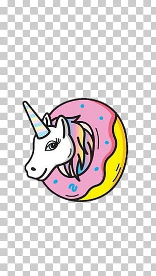Donuts Unicorn Rainbow Drawing Mobile Phones PNG