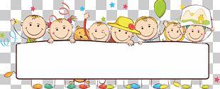 Banner Child Illustration PNG
