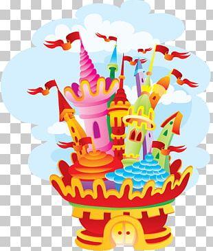 Cartoon Castle House Building PNG