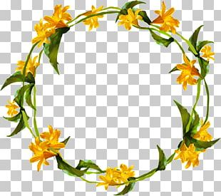 Yellow Flower Wreath Png Clipart Flower Clipart Flowers