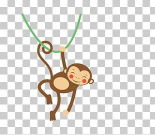 Monkey Cuteness Illustration PNG