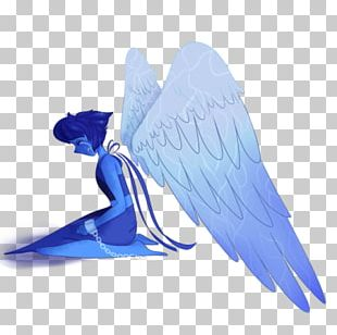Bird Feather Wing Beak Cobalt Blue PNG