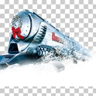 Train Christmas Poster Silver PNG
