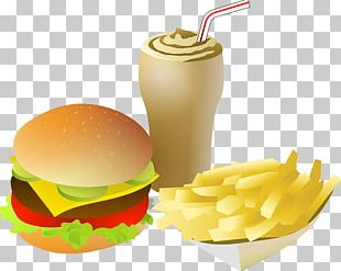 Fizzy Drinks Hamburger French Fries Cheeseburger Fast Food PNG