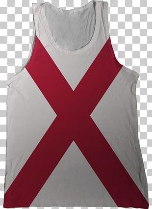 Flag Of Alabama T-shirt Gilets Top PNG