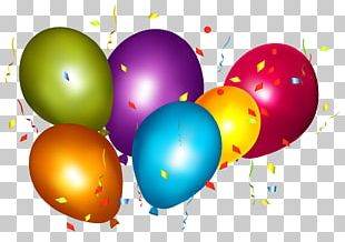 Balloon Confetti Party Hat PNG