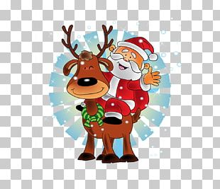 Santa Claus's Reindeer Christmas New Year PNG