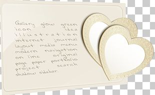 Simple Hand-painted Paper Heart-shaped Pattern PNG