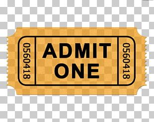 Ticket Admit One Cinema PNG