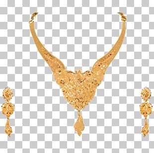 Necklace Earring Gold Jewellery Jewelry Design PNG