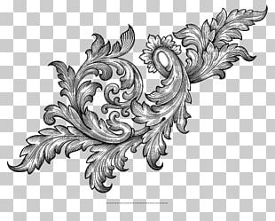 Baroque Ornament Scroll Acanthus PNG