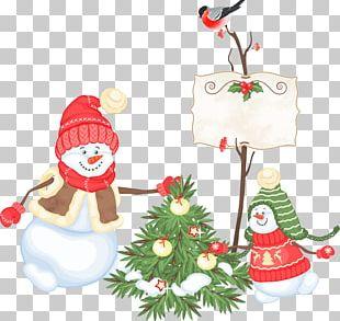 Santa Claus Christmas Decoration Snowman PNG
