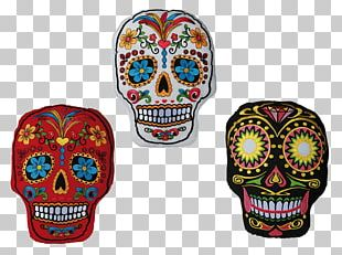Calavera Mexico Mexican Cuisine Day Of The Dead Cushion PNG