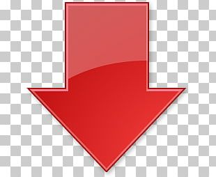 Red Down Arrow PNG