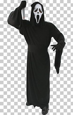 Ghostface Robe Halloween Costume Costume Party PNG
