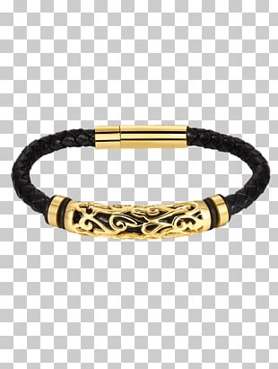 Bracelet Bangle Gold Leather Jewellery PNG