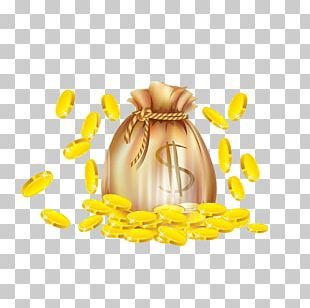 Gold Coin Finance Cartoon PNG